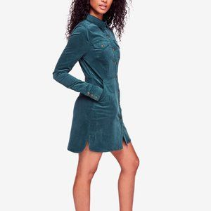 Free people green corduroy dress